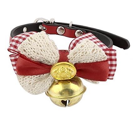eDealMax de imitación del Bowknot de Cuero en Forma de Cuello de la Campana pendiente del