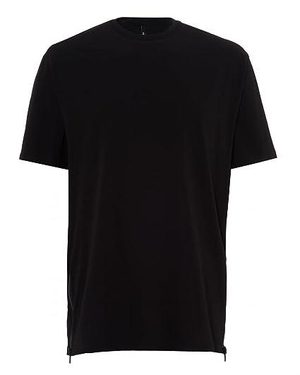 bde5a997728 Versus Versace Mens Zip Mesh Panel Oversized T-Shirt  Amazon.co.uk ...