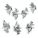 860 Pieces Antique Silver Tone Jewelry Making Charms Supply Wholesale O2VY1 Fairy Angel