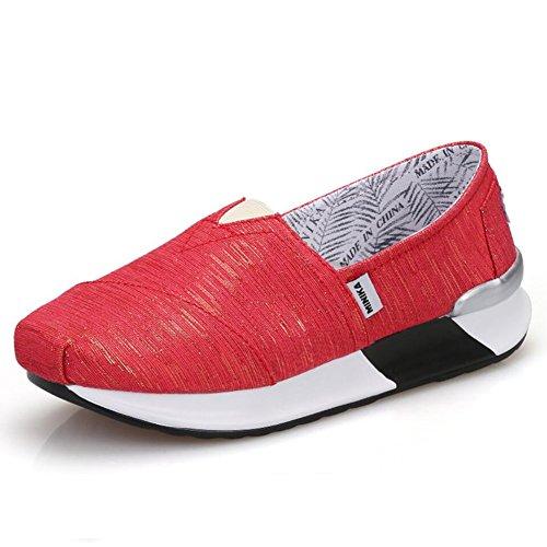 tacones o de Lienzo y Zapatos altos de Zapatos oto mujer conducci Mocasines de SXgWnnzHq