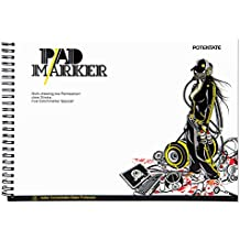 "Art Bleedproof Marker Paper Pad,9"" x 12"",0.7lb Drawing Paper ,32 Sheets-Side Wire"