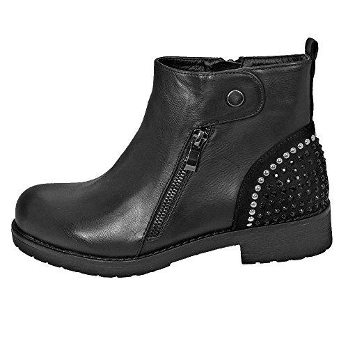 Zip Double Sexy Ankle UK Matte Booties Low Mid Ladies 3 1 Heel M1645 Black Shoe Block YRY0gw