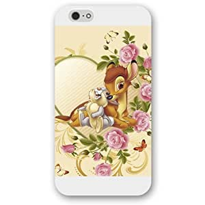 Diy White Frosted Disney Cartoon Movie Bambi For HTC One M7 Case Cover Case, Only fit For HTC One M7 Case Cover