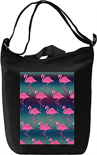 Flamingos Pattern Borsa Giornaliera Canvas Canvas Day Bag| 100% Premium Cotton Canvas| DTG Printing|
