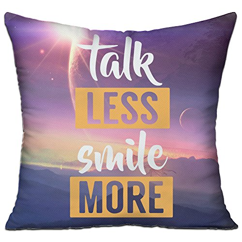 newthree-talk-less-smile-more-cotton-pillow-double-sided-1818-inch-including-pillow