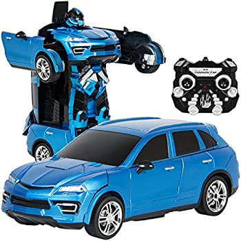 Best Choice Products Kids Toy Transformer RC Robot Car Remote Control Car- Blue