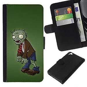 EJOY---La carpeta del tirón la caja de cuero de alta calidad de la PU Caso protector / HTC Desire 820 / --Zombie Green Man Cartoon Monster Carácter