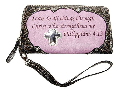 Rhinestone Cross Bible Verse Phil product image