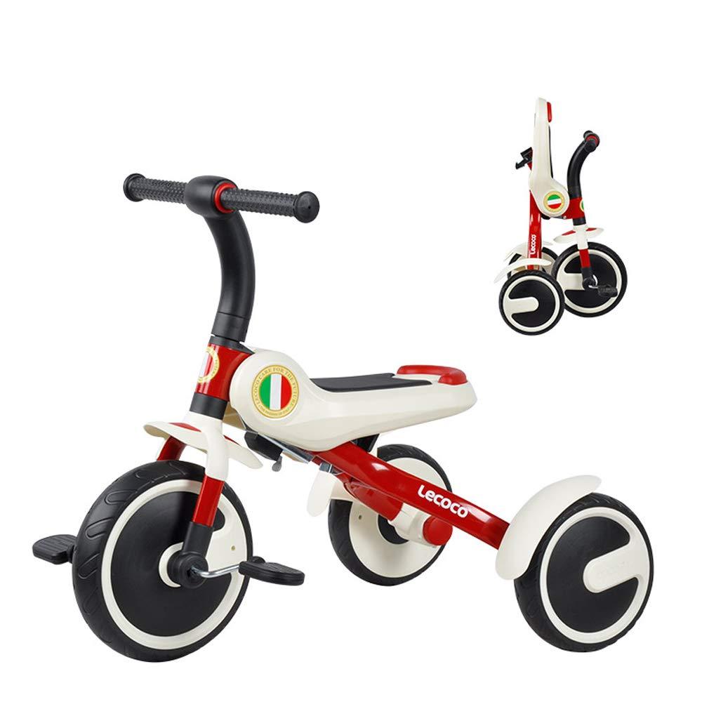 Car toy model Kinder-Dreirad-Pedalfahrrad, faltbares tragbares Fahrrad, Lauflernhilfe für Babywaage im Freien/Innen