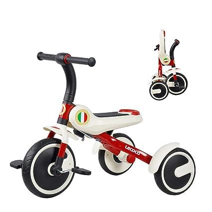 Car toy model Bicicleta con Pedales de 3 Ruedas para niños, Bicicleta portátil Plegable,