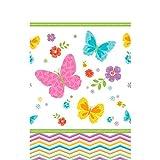 Celebrate Spring Plastic Table Cover Tableware Decoration (1 Piece), Multi Color, 54'' x 102''.