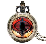 G.I. Joe Cobra Glass Dome Bronze Finish Pendant Pocket Watch