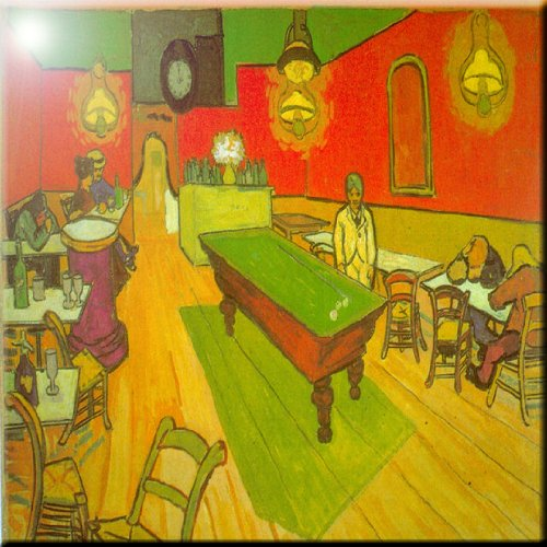 8 x 8 Rikki Knight Van Gogh Art Night Cafe Design Ceramic Art Tile