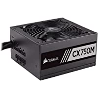 Corsair CX750M zasilacz PC (częściowo modułowe zarządzanie kablami, 80 Plus brąz, 750 W, EU)