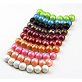25Pcs Pearl Half Resin Dome Cap Copper Base Crafting Sewing Diy Buttons-13Mm^Gold.