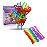 Johouse Stacking Balance Game, Chairs Stacking Tower Balancing Game, interesting Stack Board Games, Family Board Game for kids, 18 Chair Toys and 10 puzzle twist sticks Set.