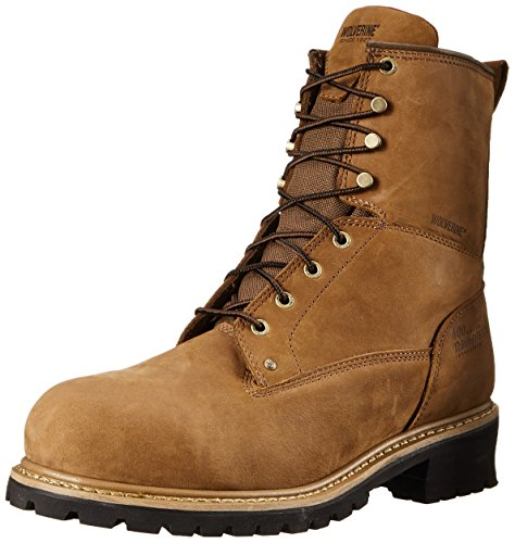 - Wolverine Men's Snyder WPF Logger Steel Toe EH Work Boot, Brown, 13 M US