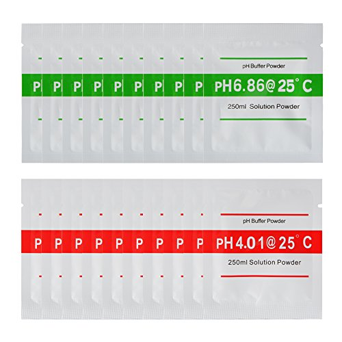 XCSOURCE 20pcs 4.00 6.86 pH Meter Buffer Solution Powder for Quick Easy Accurate pH Calibration Water Purity BI672
