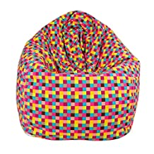 Beautylife88 Bean Bag Furniture Washable Lazy Sofa Couch Colorful plaid