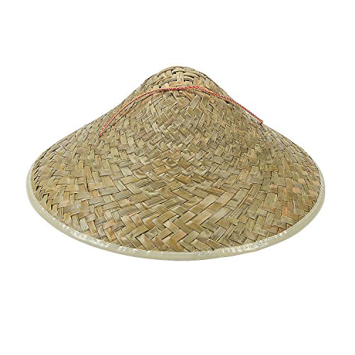 Fun Express - Adult Straw Asian Hat - Apparel Accessories - Hats - Straw Hats - 12 -