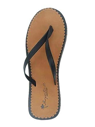 8738b3c1f Amazon.com  Margaritaville Ladies Flat Flip Flop Seafoam  Clothing