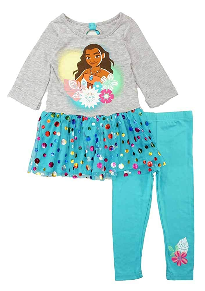 Disney Girls' Moana 2 Piece Top and Legging Set