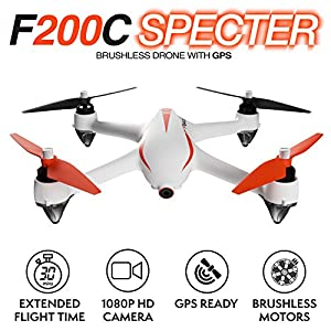 Force1 Drone with Camera and GPS Return Home Brushless Motors HD Drone 1080p Camera MJX B2C Bugs 2 Quadcopter by Force1