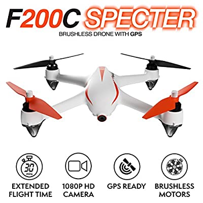 Drones with Camera and GPS - B2C Specter MJX Bugs 2 1080p Drones for Adults or Teens, Brushless GPS Drone with Return Home Function and Extra Battery