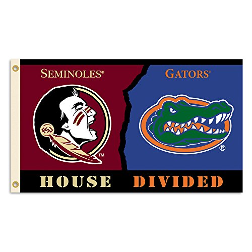 NCAA Florida State Seminoles 3 x 5-Feet Flag with Grommets Rivalry House Divided, Team Color