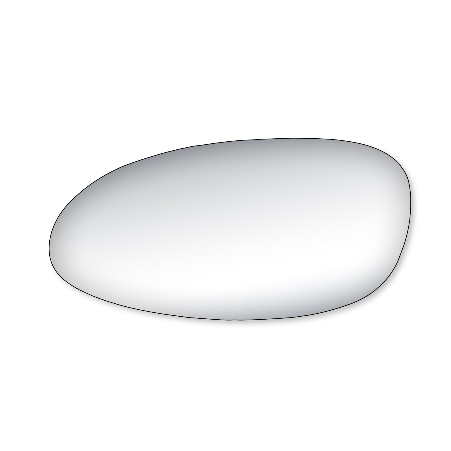 Fit System 99147 Buick Lacrosse Driver/Passenger Side Replacement Mirror Glass