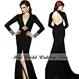 Backless Black Evening Dresses Simple and Glamorous Evening Dress Party Dress Or Wedding Dress