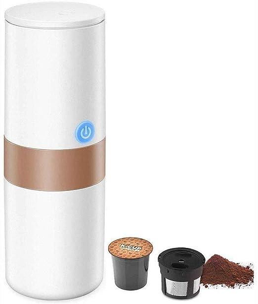 CHNFF Práctico portátil Individual sirven café, 2 en 1 máquina de ...