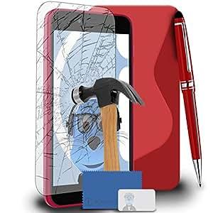 'iTALKonline Apple iPhone 6/6s 4.7inch (4.7) TPU S Line Wave Hybrid Gel Skin Case Protección Jelly Tapa, ausgeg lichenes Cristal protector de pantalla y kopfhörerhalterung Pro Stylus Pen