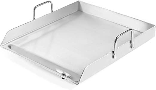 Amazon Com Heavy Duty Single Stove Stainless Steel Griddle Flat Top Plancha Pan Comal Cook Kitchen Dining