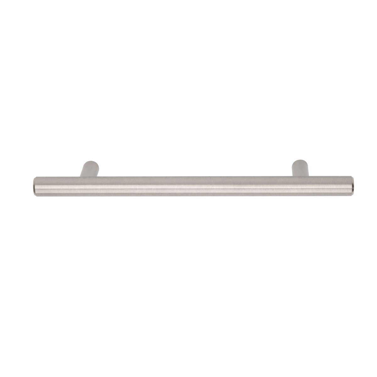 AmazonBasics Euro Bar Kitchen Cabinet Handle 1/2 Inch Diameter, 7.38 Inch Length, 5 Inch Hole Center, Satin Nickel, 25-Pack by AmazonBasics (Image #2)