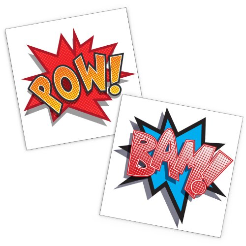 Superhero Comics Party Supplies Tattoos product image
