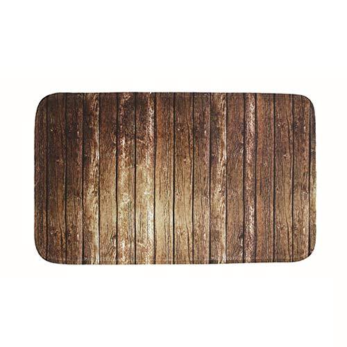 Justdodo 3Pcs Tappeto da Bagno Famiglia Tappetino Antiscivolo Coperchio Copri-Toilette Accessori Bagno Set Tappetino da Bagno Colore Legno