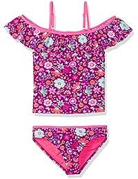 a4a30f563aa60 Big Girls Off The Shoulder Floral Print Tankini Swim Set