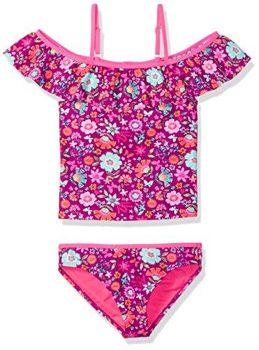 Angel Beach Big Girls Off The Shoulder Floral Print Tankini Swim Set, Multi, 12