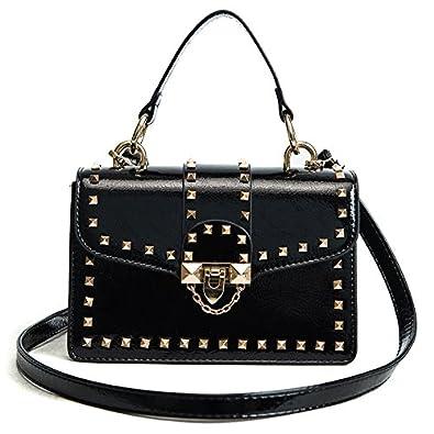 2665f8d6a9 HITSAN INCORPORATION New Style famous brand Minimalist Crossbody Bag women  Shoulderbag messenger diamond Chain Puzzle rivet bags for women Color  balck  ...