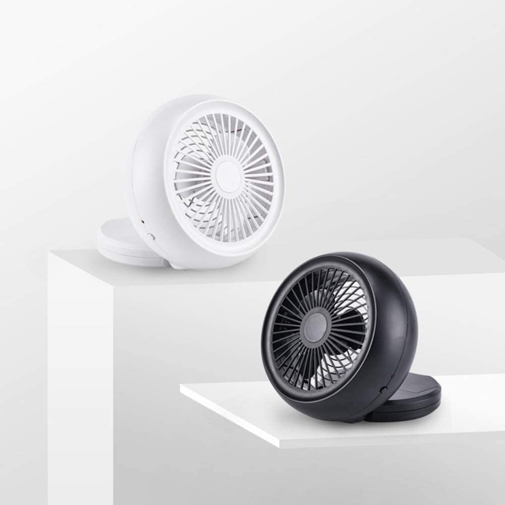 Shentesel Cooling Fan Summer USB Mini Air Cooler Low Noise Desktop Home Office White