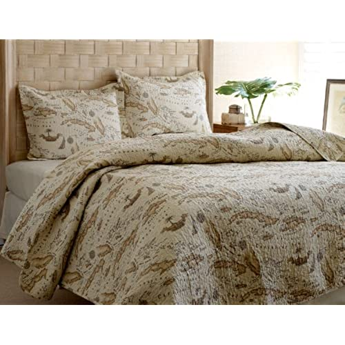Map comforter amazon tommy bahama map quilt set fullqueen gumiabroncs Gallery