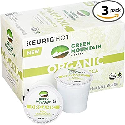 Green Mountain Coffee Organic Peru Cajamarca - K-cups 30 Pack (3 10 Packs)