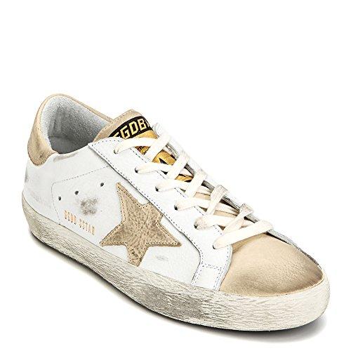 Golden Goose Deluxe Varumärke Womens Superstar Sneaker G30ws590.b30 Vit / Elfenben