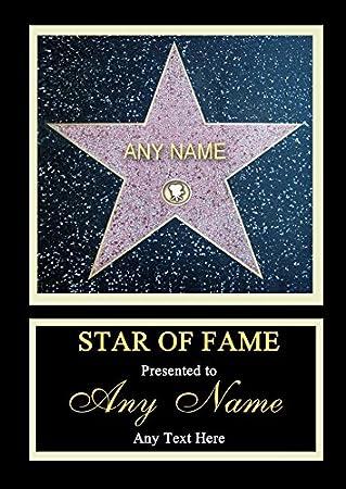 Hollywood Star Walk of Fame personalisierbar Zertifikat: Amazon.de ...