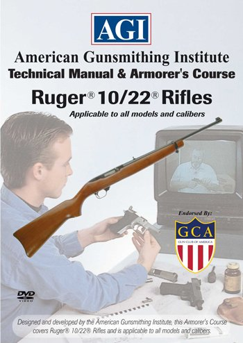 American Gunsmithing Institute Armorer's Course Video on DVD for Ruger 10/22 Rifles - Technical Instructions for Disassembly, Cleaning, Reassembly and More from Ruger