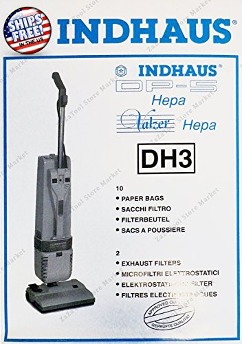ZaZaTool 10 Bags 2 Filters Genuine Lindhaus Valzer DP-5 Hepa DH3 Vacuum Cleaner Bag