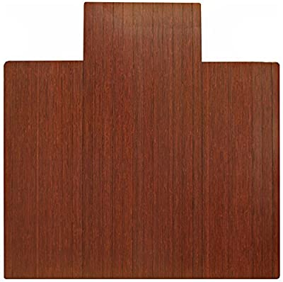 Anji Mountain Bamboo Roll-Up Chairmat with Lip
