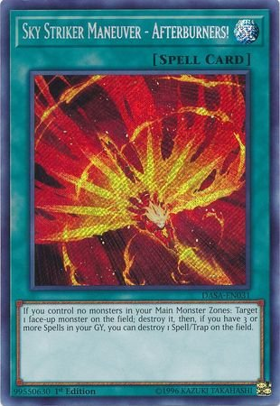 (Sky Striker Maneuver - Afterburners! - DASA-EN031 - Secret Rare - 1st Edition)