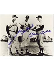 Mickey Mantle Stan Musial & Ted Williams Signed Autographed reprint 8 x 10 Photo